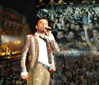 Tarkan on stage in Vienna