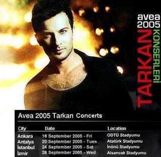 Tarkan avea concerts