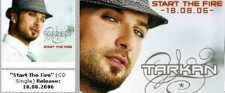 Start the Fire advert on Tarkan's official site