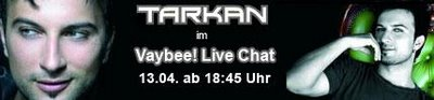 Tarkan Live Chat Ad banner at Vaybee!