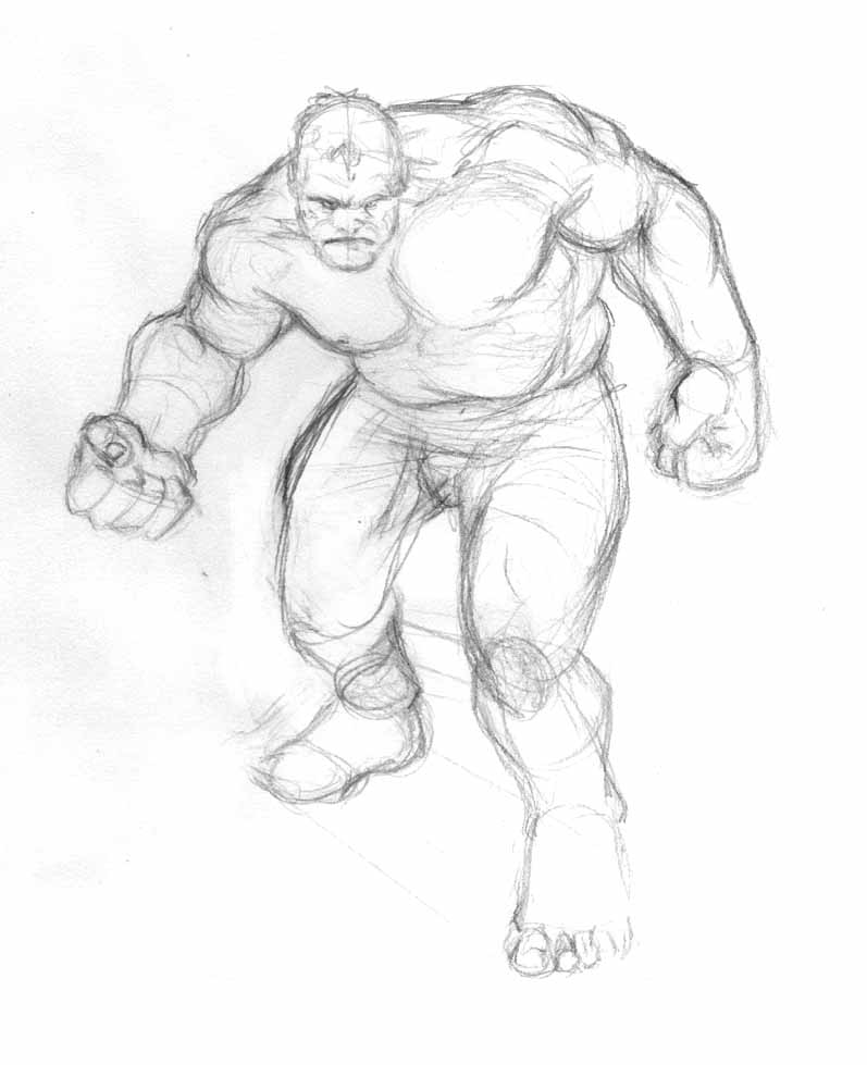 easy hulk drawings - photo #10