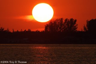 Sunset in Cape Coral, Florida; Photography by Troy Thomas