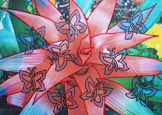 Red Plant; Mail art ATC sent to CZ Lovecraft from Troy Thomas