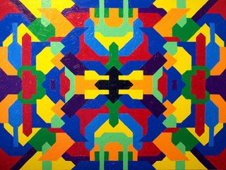 Empathy Invasion - acrylic painting by Troy Thomas; 36 inches by 48 inches on gallery wrap canvas