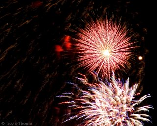 Fireworks from Fort Myers, Florida; Photography by Troy Thomas