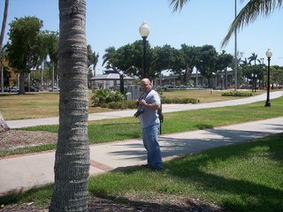 Troy Thomas in downtown Fort Myers, Florida; Centennial Park, 5 May 2006