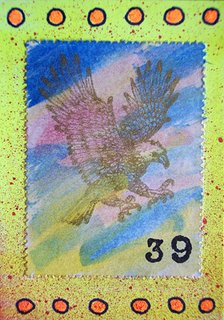 Mail Art ATC sent to Jeanne Mitchell from Troy Thomas