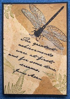 Mail Art ATC sent by Joan Northwood to Troy Thomas