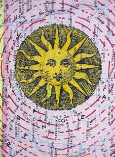 Mail art ATC sent to Lorretta Walker from Troy Thomas