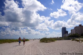 Runners, Clouds, Miami's South Beach, Florida; Photography by Troy Thomas