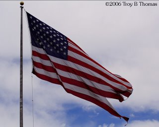 ©2006 Photography by Troy Thomas; Old Glory, American flag, Stars & Stripes, United States