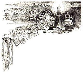 princesa, rana y cena