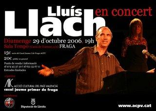 Lluis Llach a Fraga.