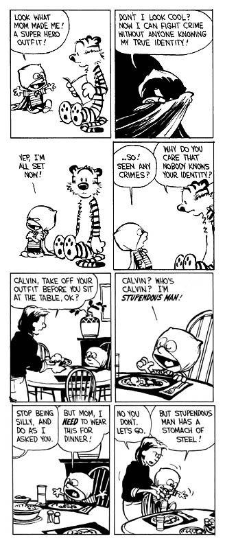 Calvin and Hobbes - November 2, 1988, by Bill Watterson