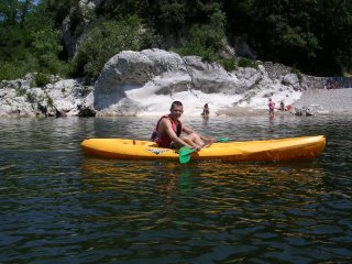 Nicolas says the single person canoe is easier to stir