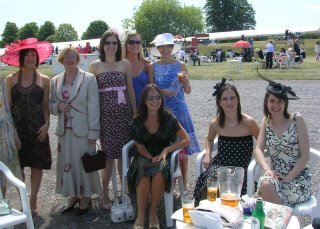 Joanna, Peggy, Claire, Orla; and seating: Jo, Alison and me.