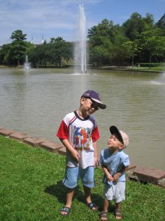 All grown up, Jacques with Nicolas in Mount Kiara Park