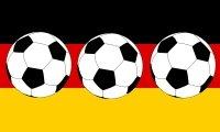 Germana flago kun tri pilkoj
