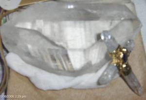 Cristal de Cuarzo que se emplea en las Iniciaciones hace 17 años.