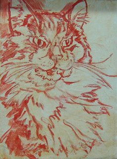 Cat Drawing by Lori Levin