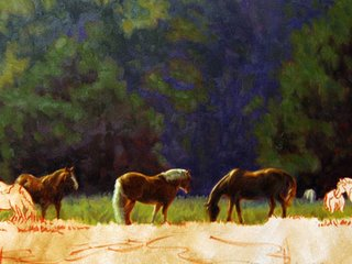 Horses by Artist Lori Levin