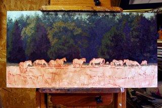 Hores Landscape by Artist Lori Levin