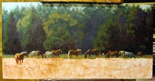 Horses and Landscape Lori Levin