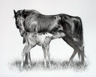 Mare and Foal by Levin