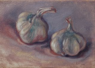 Garlic Painting by Levin