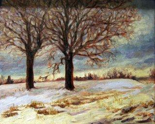 Snowy Landscape by Lori Levin