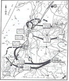 מפת ההתקפה על איסדוד בליל 2/3 ביוני