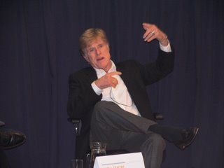 Robert Redford, speaking at Skoll Forum at Oxford's Said Business School