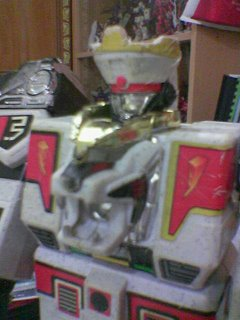 Close up on the Megazord