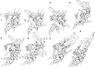 Transformation process for Ex-S Gundam