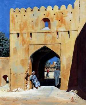 Gateway to village...Oman, Arabian Peninsula