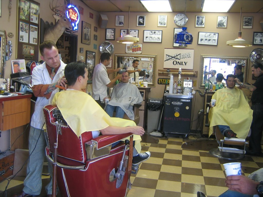 Barber Shop In Long Beach : Hawleywoods Barber Shop Automatic Writing