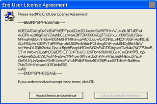 Pgp Agreement , PGP Signature posing as signature - Funny
