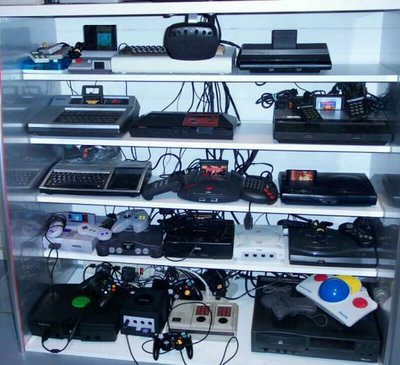 Photo showing game consoles addicted