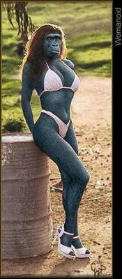 Photoshopped Hot Monkey Chick