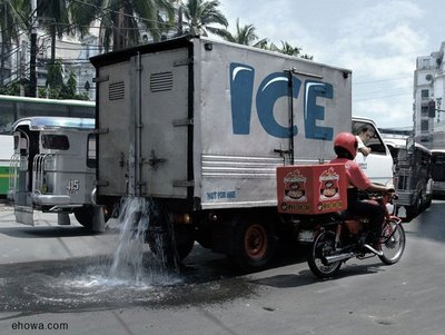 Funny Humor - Slow ICe Delivery Truck