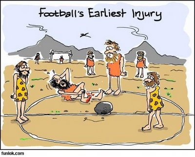 (History - Stone age) Football's earliest injury.