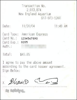 signature of receipt