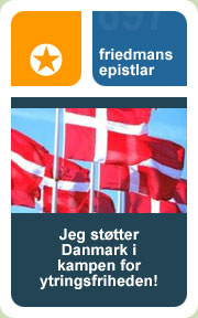 Jeg støtter Danmark i kampen for ytringsfriheden!