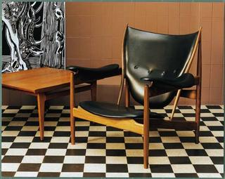 finn juhl chieftan chair vintage midcentury modern chair danish