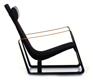 vitra jean prouve leather lounge guest chair new york