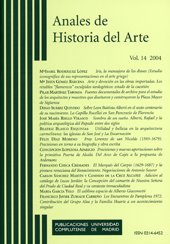 Portada de la revista Anales de Historia del Arte