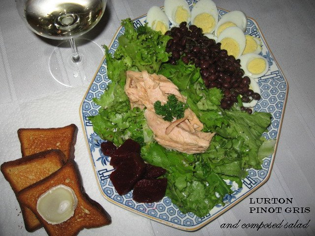 jacques françois lurton reserva bodego mendoza pinot gris 2005 composed salad