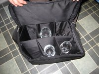 wine glass caddy padded adjustable compartments