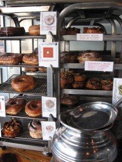 fresh daily doughnut rack