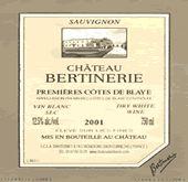 Chateau Haute-Bertonerie Premier Cote de Blay 2000